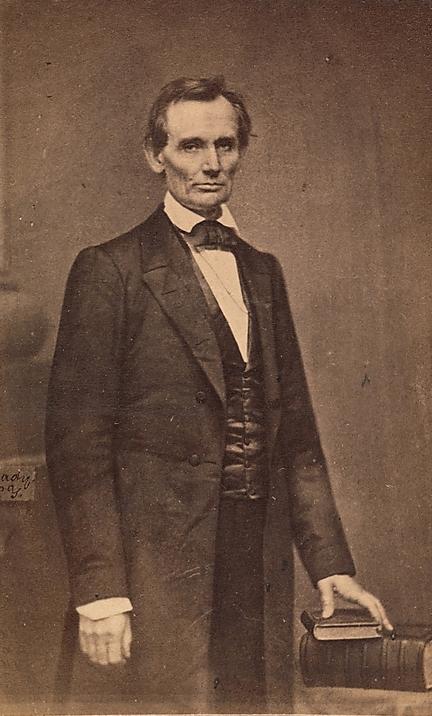 """""""Abraham Lincoln"""", de Mathew Brady. 27 de fevereiro de 1860."""