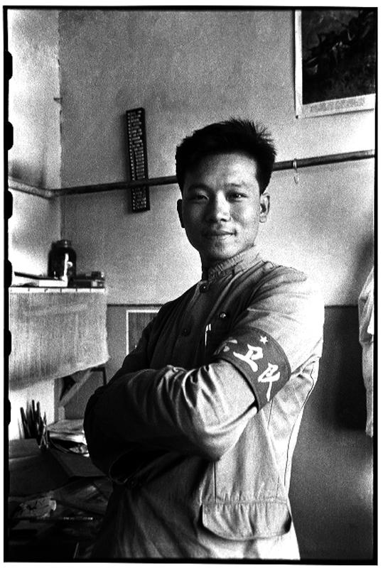 Auto retrato, Li em seu escritório no Diário de Heilongjiang, província de Heilongjiang, 6 de julho de 1966