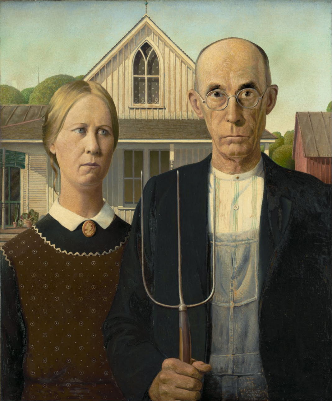 American Gothic, 1930, Grant Wood
