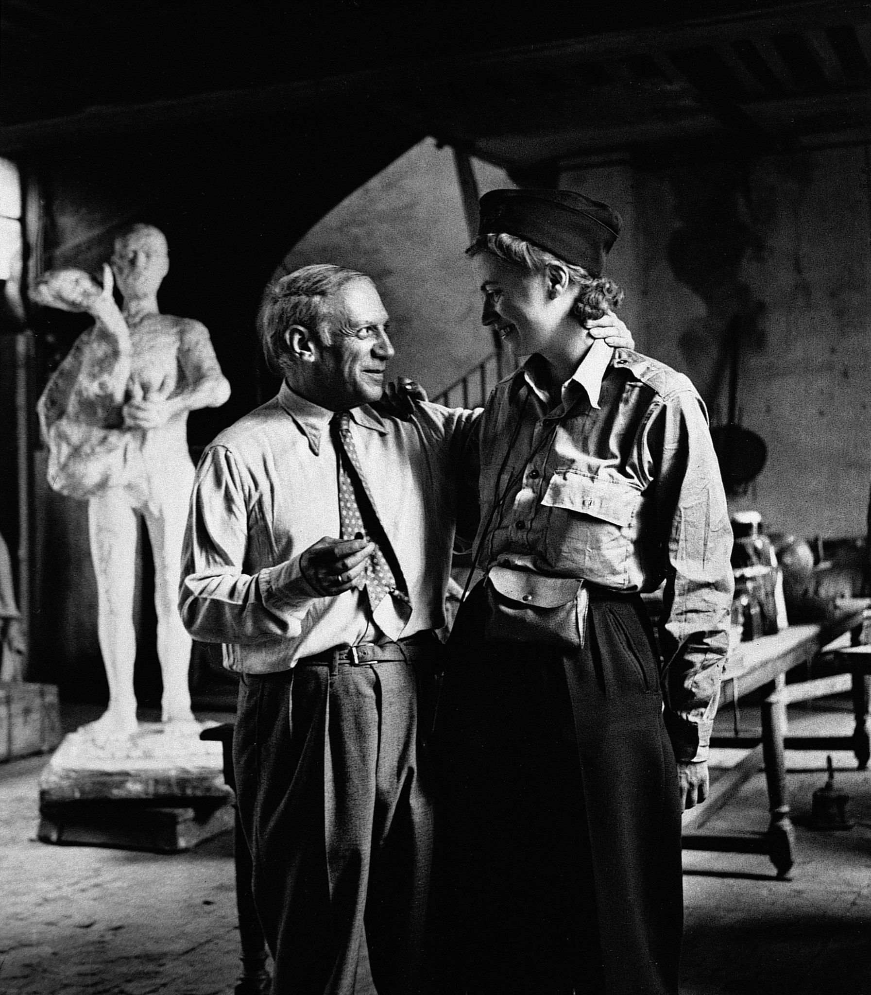 Lee Miller e Picasso depois da libertação de Paris, por Lee Miller, Paris, França, 1944 / Cortesia National Galleries of Scotland