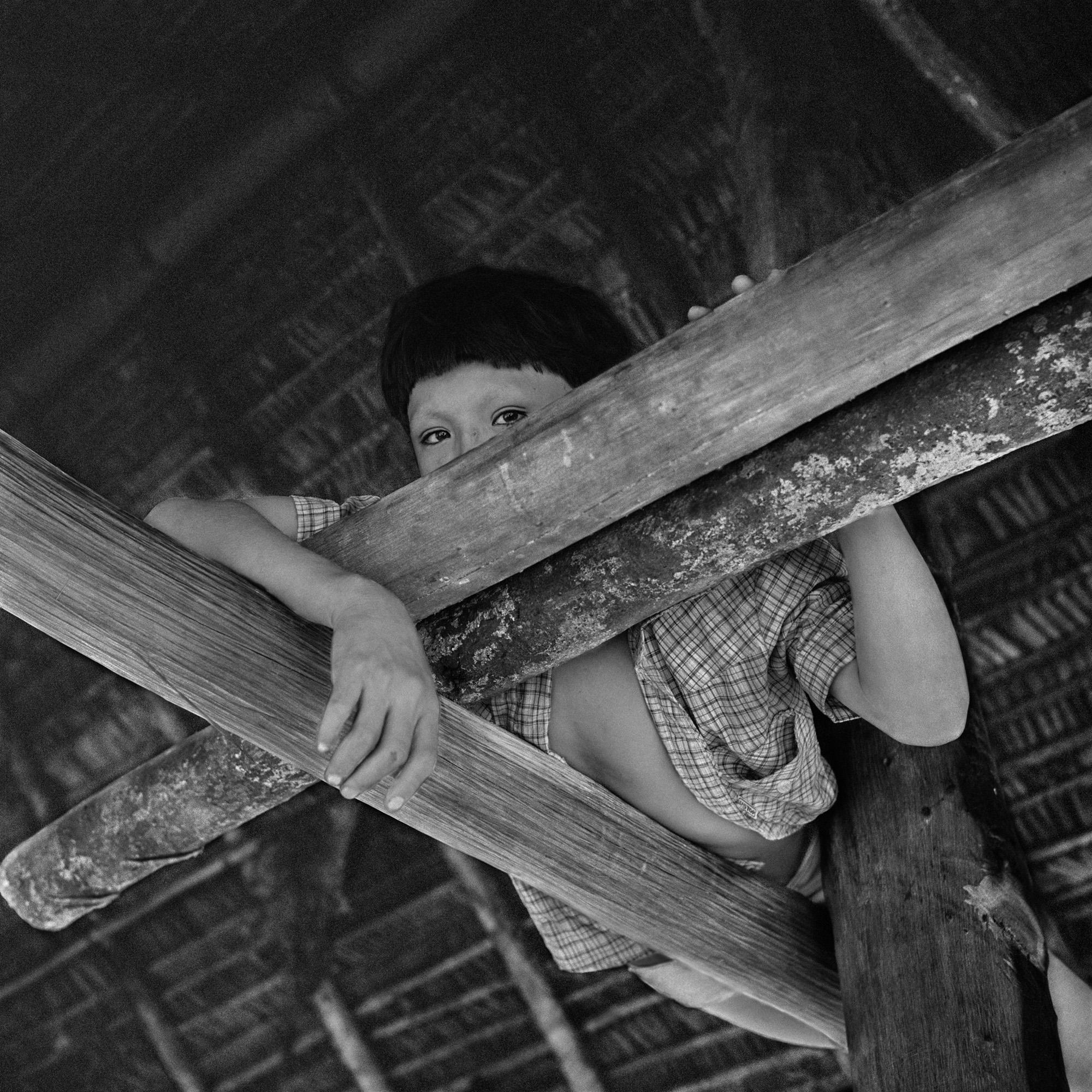 Yuruawï-do no jirau da casa de farinha. Aldeia do médio Ipixuna, 1982