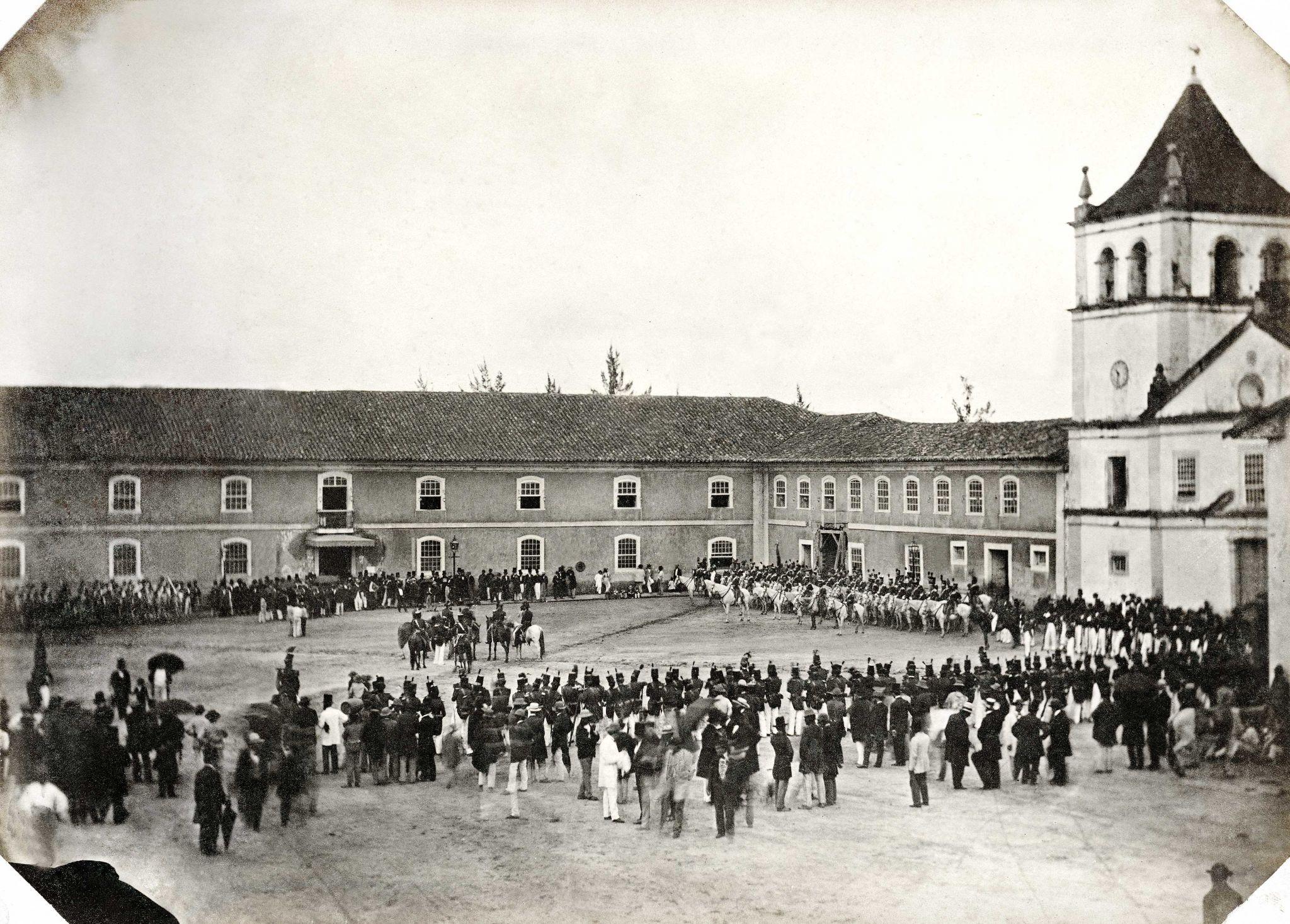 Igreja e Convento do Colégio, atual Pátio de Colégio, 1862, Militão Augusto de Azevedo