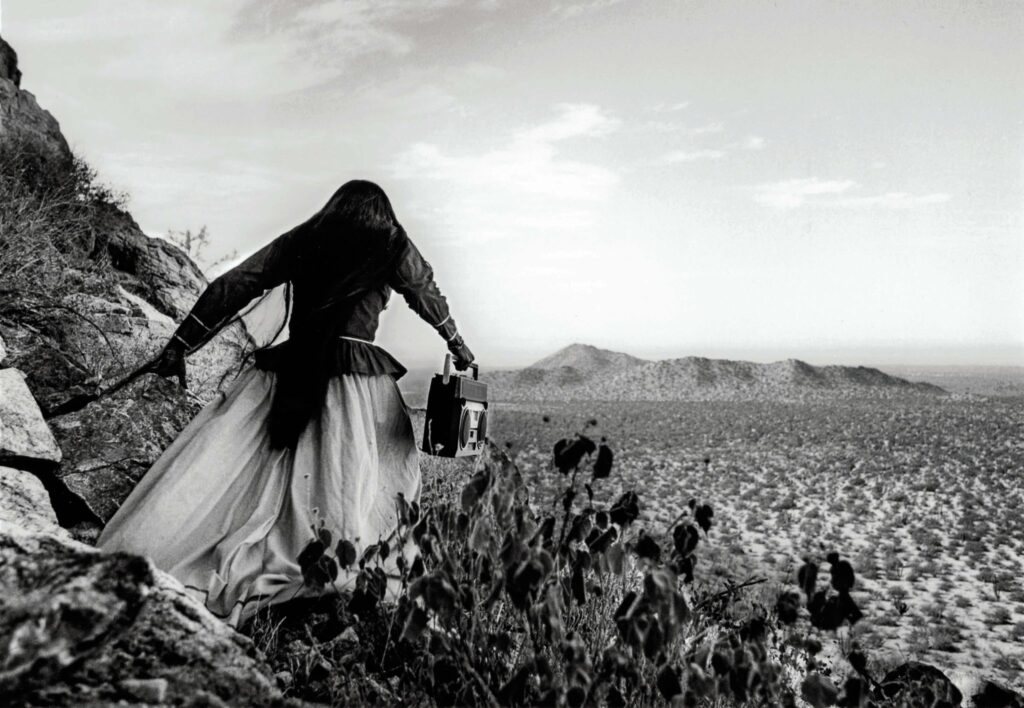 """Mulher anjo"", deserto de Sonora, 1979"
