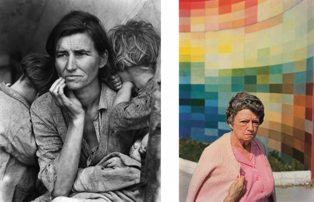"Dorothea Lange, ""Mãe migrante"", Califórnia, 1936. © Library of Congress/Getty Images; e William Eggleston, da série ""Los Alamos"", 1965-1974 © Eggleston Artistic Trust. Cortesia de Cheim & Read, Nova York"