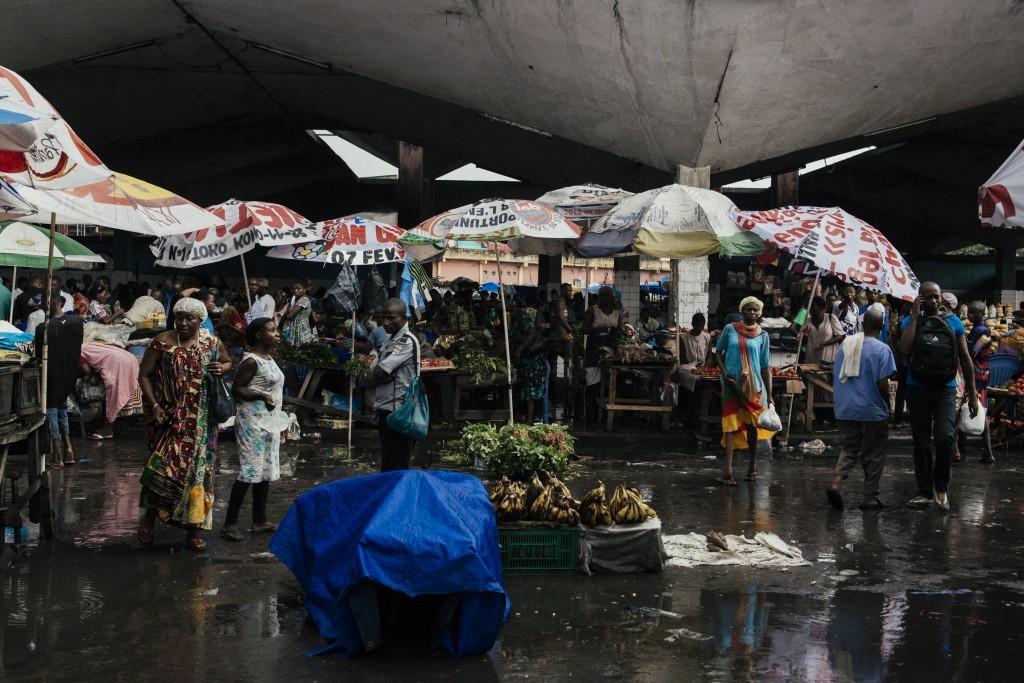 Mercado Central, Kinshasa, República Democrática do Congo. © Trëma