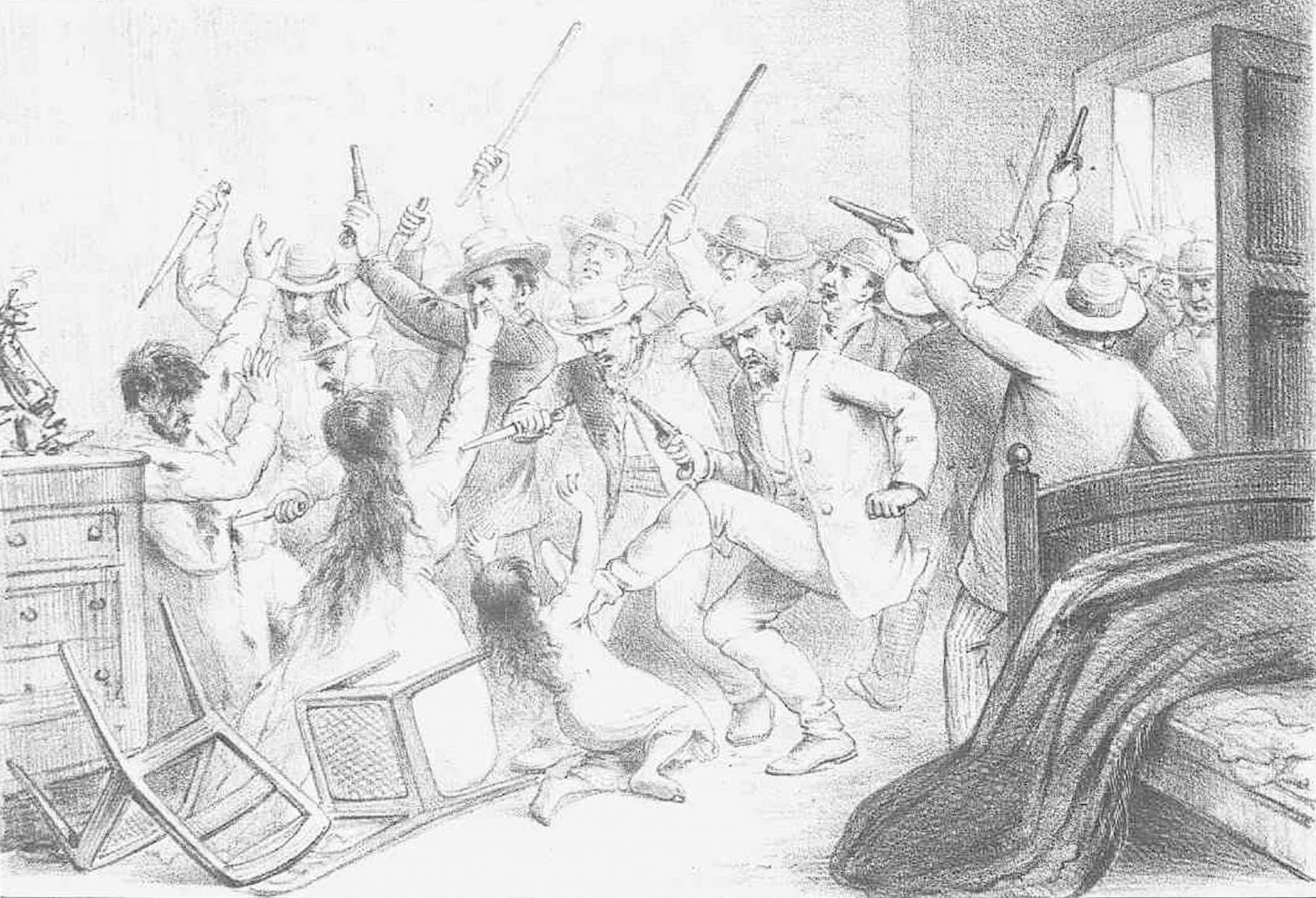Ilustração de Ângelo Agostini para a Revista Illustrada, 1888. Fundação Biblioteca Nacional – BNDigital