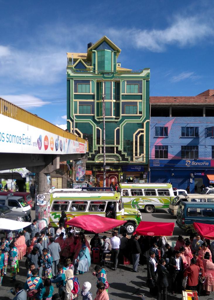 Festa do 16 de Julho, El Alto, Bolívia. Fotografado com o celular.