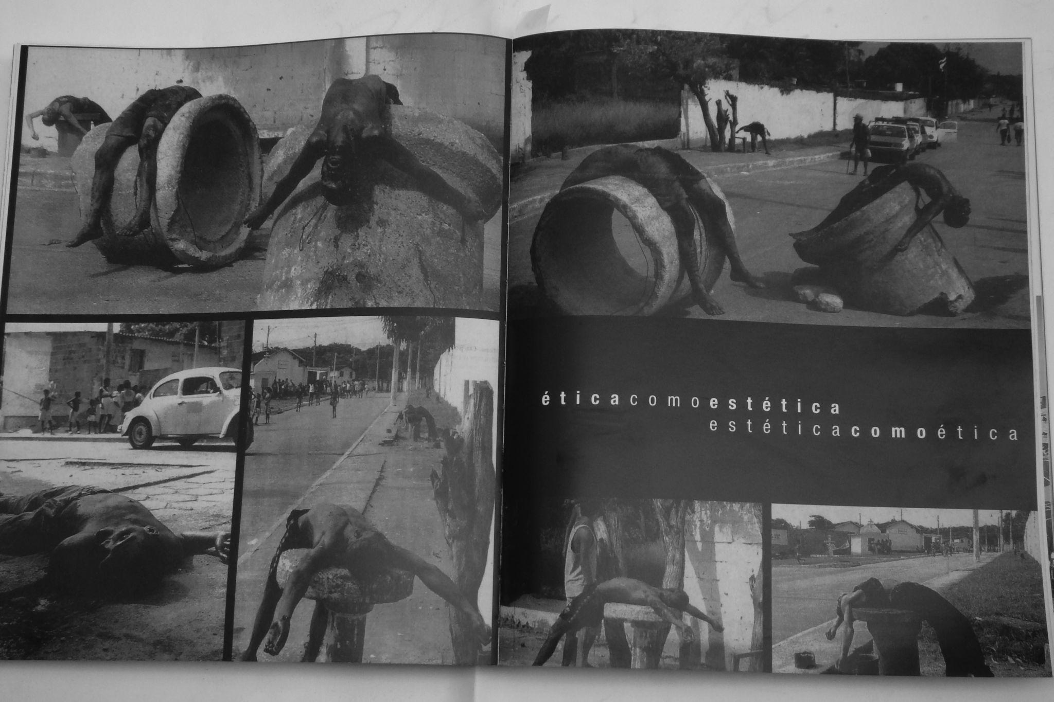 """Cildo Meireles, """"Ética como estética, estética como ética"""", 2003. Intervenção no catálogo da 50ª Bienal de Veneza."""