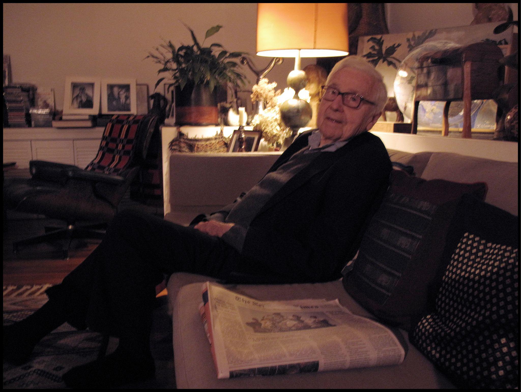 John G Morris, novembro de 2009. Foto de Oliver Morris/Getty Images.