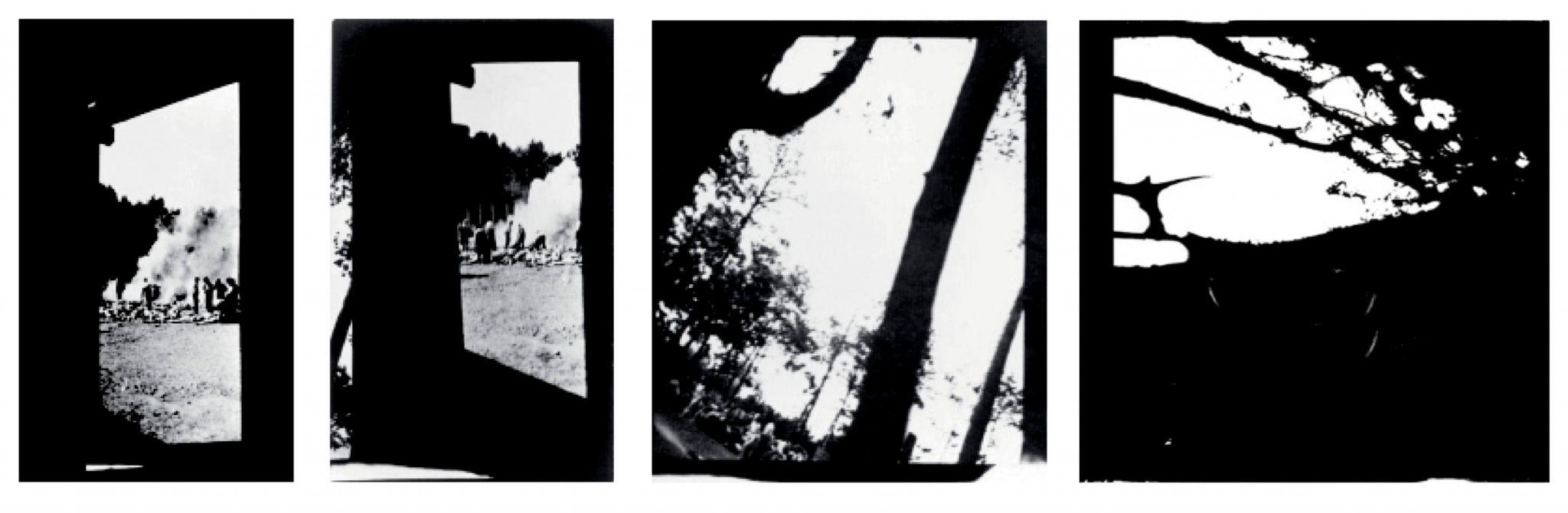 Georges Didi-Huberman dedicou o livro <em>Imagens apesar de tudo</em> às únicas quatro fotografias que documentam o processo de extermínio em massa conduzido nas câmaras de gás dos campos de concentração nazistas. As fotos mostram a queima de corpos e a entrada de mulheres na câmara do crematório 5 de Auschwitz. Tiradas às escondidas por um prisioneiro judeu forçado a participar das atrocidades, estas imagens são um ato de resistência, argumenta Didi-Huberman. Memorial e Museu Auschwitz-Birkenau, Polônia, 1944.